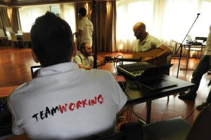 music team building & incentive in dubai: corporate song team building