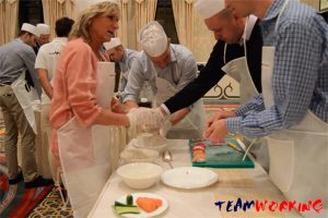 cooking team building & incentive in abu dhabi: sushi making
